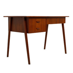Petite Danish Modern Teak Writing Desk