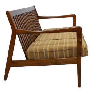 Mid Century Modern Walnut Sofa