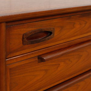 Heritage Walnut Dresser / Credenza with Burled Accents
