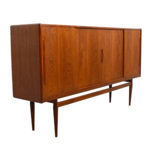 Danish Modern Teak Highboard / Bar / Storage Cabinet