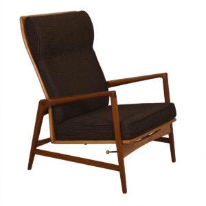Kofod Larsen Danish Teak Adjustable Lounge Chair W/ Ottoman By Selig
