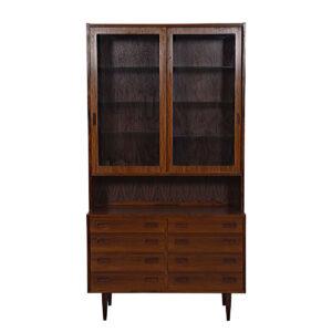 Danish Modern Rosewood Bookcase / Display Cabinet