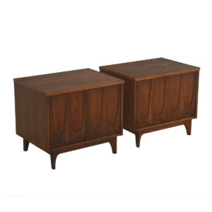 Pair of Broyhill Brasilia Commodes / Nightstands / Accent Tables with Legs