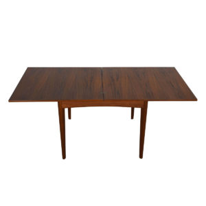 Square-to-Rectangle Danish Teak Fold-Out Dining / Game Table