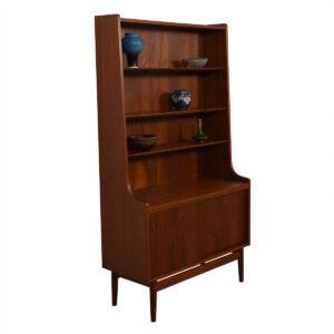 Splayed Leg Danish Teak Bookcase / Storage Cabinet