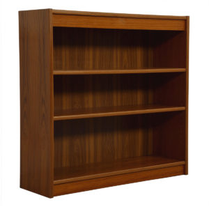 Compact Teak Bookcase with Adjustable Shelves