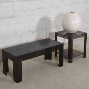 Mid Century Modern Parsons Style Accent Table