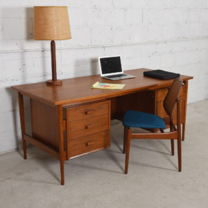 Arne Vodder Danish Teak Floating Top Desk