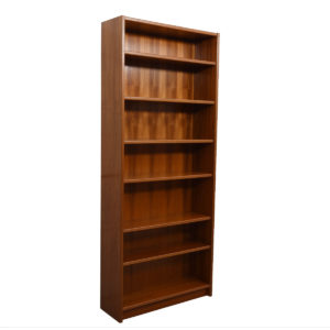 Pair of Extra Tall Danish Modern Teak Adjustable Bookcases