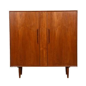 Danish Modern Teak Gentleman's Chest / Tall Dresser