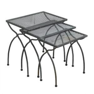 Salterini Patio Set of 3 Nesting Tables