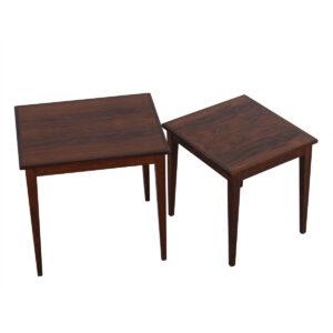 Pair of Danish Rosewood Nesting Tables