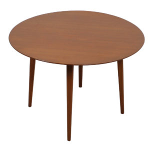Mid Century Round Hans Wegner Style Splayed-Leg Coffee Table