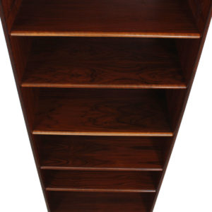 Deep & Tall Danish Rosewood Adjustable Bookcase – Vinyl Storage