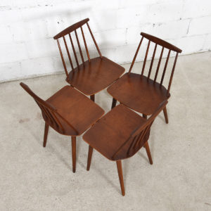 Set of 4 Poul Volther for FDB Danish Modern Teak Chairs