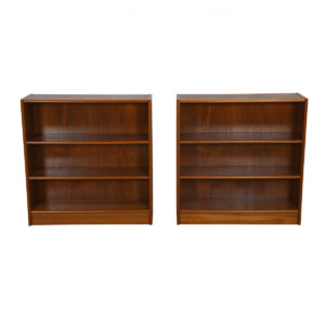 Compact Teak Bookcases with Adjustable Shelves