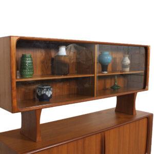 Danish Modern Bernhard Pedersen & Son Teak Sideboard w/ Top