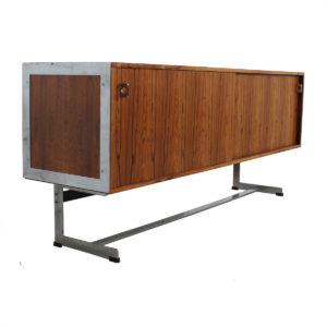 Merrow Associates Rosewood & Chrome Credenza / Sideboard