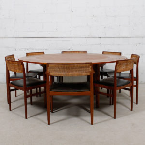 Lotus 'Flip-Flap' Danish Teak Expanding Dining Table by Dyrlund