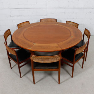 Lotus 'Flip-Flap' Danish Teak Expanding Dining Table by Dyrlund