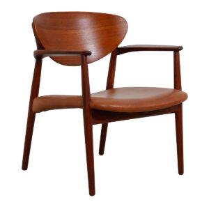Georg Jensen Teak & Leather Arm Chair (1965)