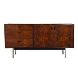Harvey Probber Stunning Rosewood Credenza w/ Chrome Legs