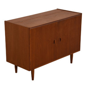 Media / Vinyl / Storage Cabinet with Easy Access in Teak