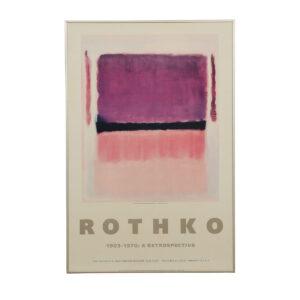 Guggenheim Rothko Retrospective Exhibition Poster (1978)