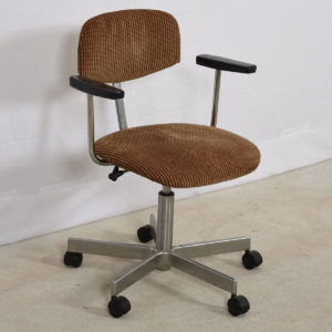 Mid Century Adjustable Desk Chair w/ NEW Upholstery