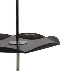 Mid Century Chrome Floor Lamp w / Folded-Edge Lucite Table