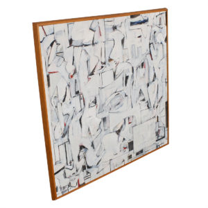 Off-White Abstract Shapes Mid Century Artwork (1963) – Large