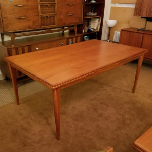 Colossal Niels Moller Teak Dining Table w / Pronounced Edge Banding