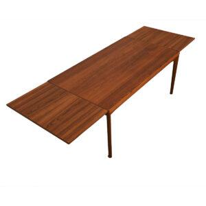 Expanding Danish Modern Teak Large Dining Table