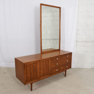 X-Large Mid Century Drexel Declaration Walnut Mirror