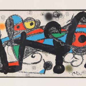 Joan Miro Abstract Figural Print
