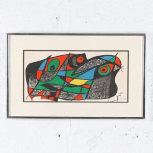 Joan Miro Print of Abstract Birds