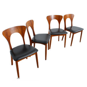Set of 4 Koefoeds Hornslet Danish Modern Teak Dining Chairs