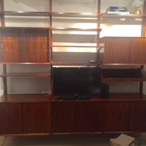 Danish Rosewood Tension Pole CADO Adjustable Wall Unit