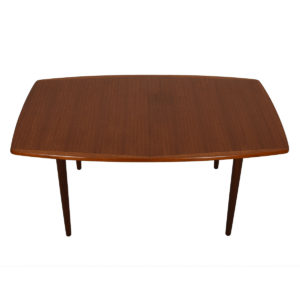 Norwegian Teak Expanding Curved-Edge Dining Table