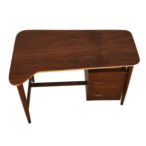Mid Century Modern 'Biomorphic' Shaped Walnut Desk