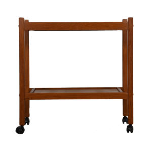 Danish Teak Serving / Bar Cart with Shelf