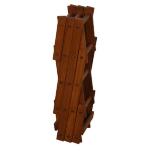 Teak 8-Bottle Wine Rack