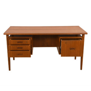 Mid-Sized Danish Teak Floating Top Desk