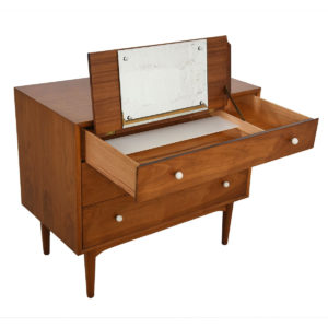 Drexel Declaration Walnut 3 Drawer Chest w/ 'Vanity Drawer'