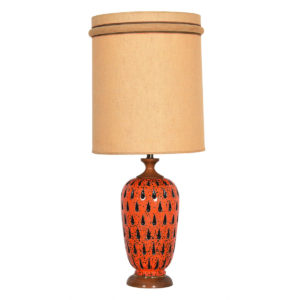 Modern mobler orange mid century teardrop table lamp mozeypictures Image collections