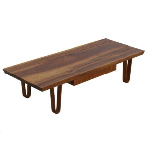 """Long John"" Coffee Table / Bench with One Drawer by Edward Wormley for Dunbar"