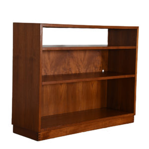Compact Teak Bookcase / Media Storage with Adjustable Shelves