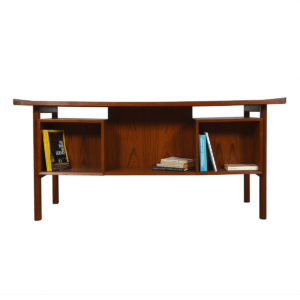 Arne Vodder Bowtie Style Danish Teak Desk