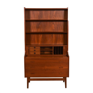 Danish Modern Teak Display / Bookcase / Secretary