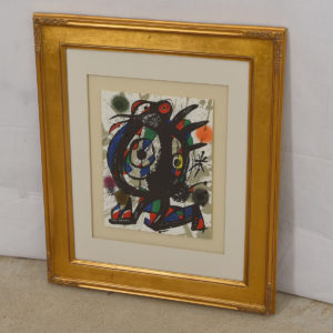 Miro Multicolored Lithograph Artwork